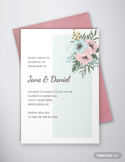 engagement ceremony invitation template