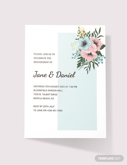 Sample Engagement Ceremony Invitation