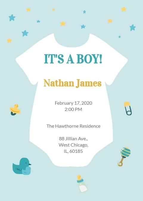 Oneside Baby Shower Invitation Template.jpe