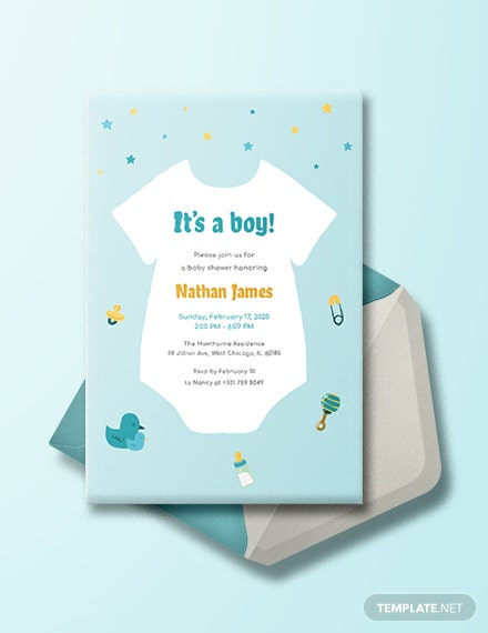 onesie baby shower invitation template