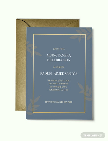 20 Quinceanera Invitation Templates