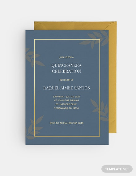 Sample Quinceanera Invitation