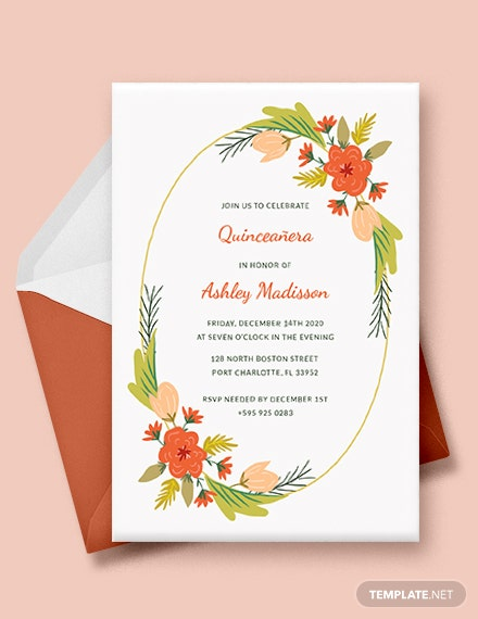 quinceanera party invitation template