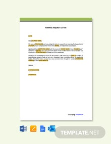 Free Formal Interview Request Letter Template