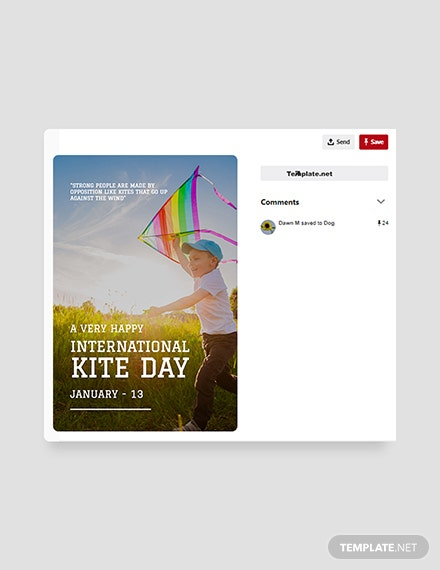 Free International Kites Day Pinterest Pin Template