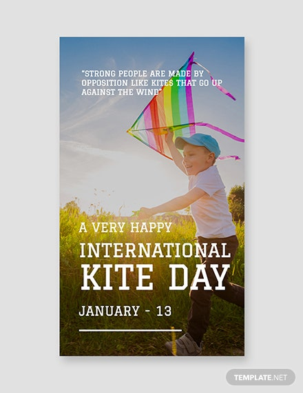 Free International Kites Day Whatsapp Image Template