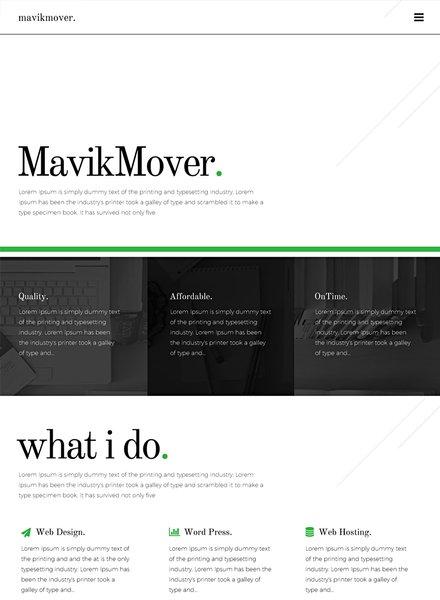 freelancer website template in adobe photoshop