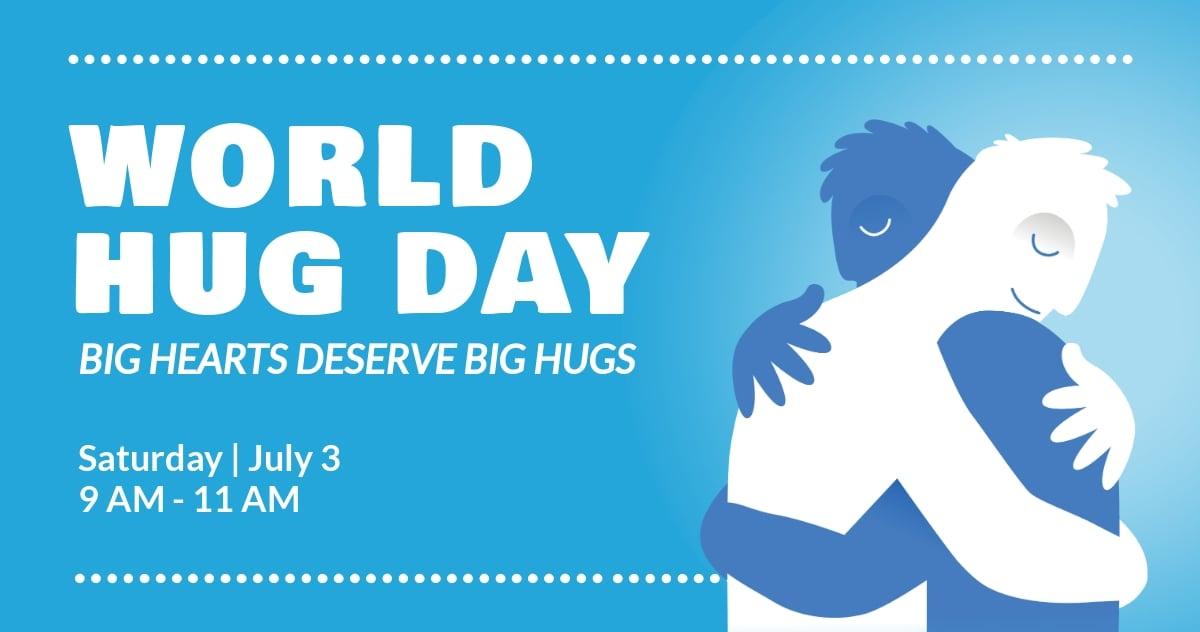 Free World Hug Day Facebook Post Template