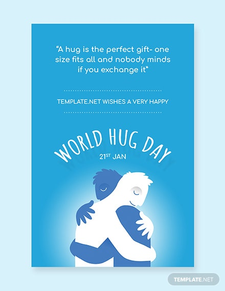 World Hug Day Pinterest Graphic Template Download