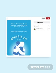 Free World Hug Day Pinterest Graphic Template
