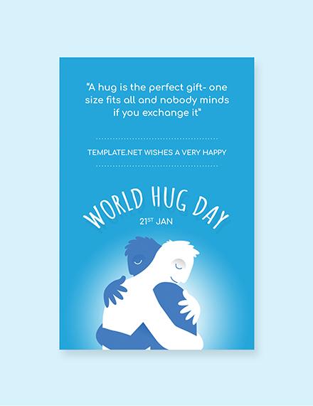 Free World Hug Day Tumblr Post Template
