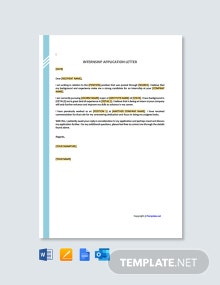 Free Internship Request Letter Template