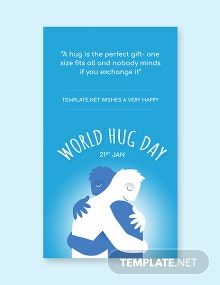 Free World Hug Day Whatsapp Image Template