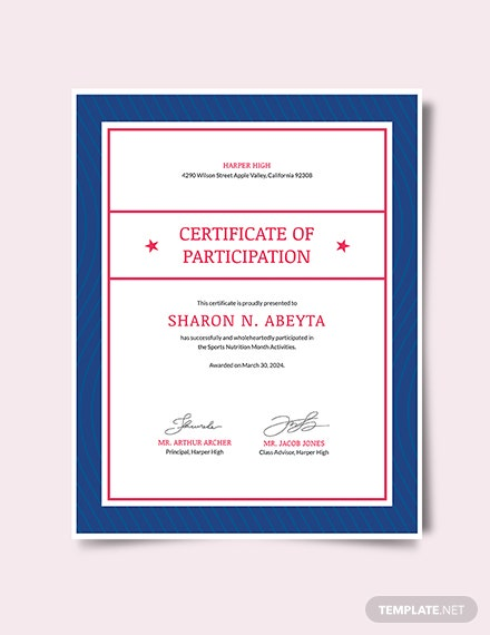 Sports Nutrition Certificate Download