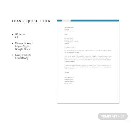 Free loan request letter template in microsoft word apple pages free loan request letter template spiritdancerdesigns Choice Image