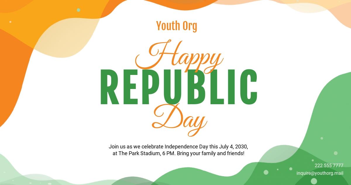 Republic Day Facebook Post Template
