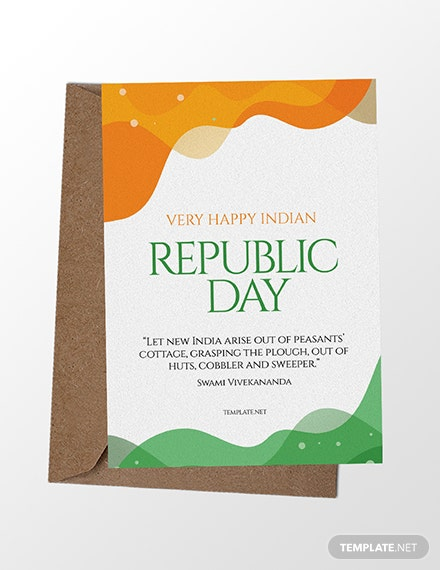 Free Republic Day Greeting Card Template