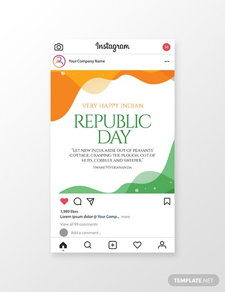 Free Republic Day Instagram Post Template