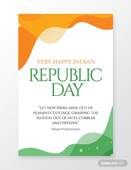 Free Republic Day Pinterest Pin Template