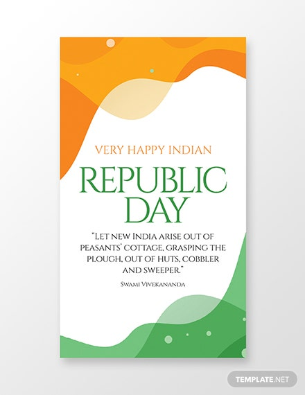 Free Republic Day whatsapp Image Template