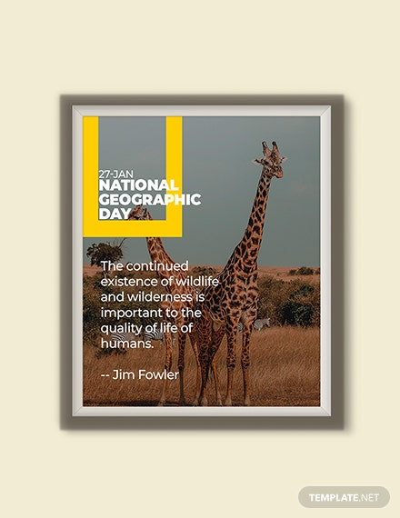 Free National Geographic Day Quote Image Template