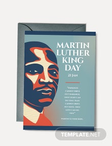 Free Martin Luther King Day Greeting Card Template