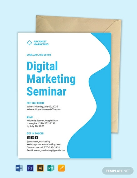 business seminar invitation template 440x570 1