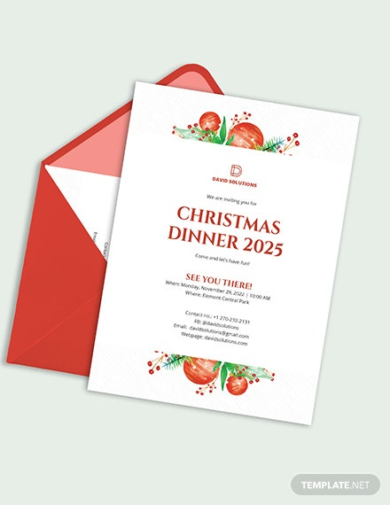 Corporate Christmas Dinner Invitation Download