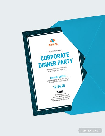Corporate Dinner Party Invitation Download