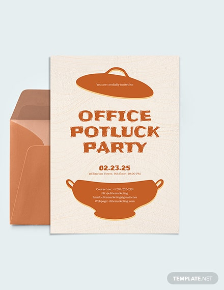 Office Potluck Party Invitation Download