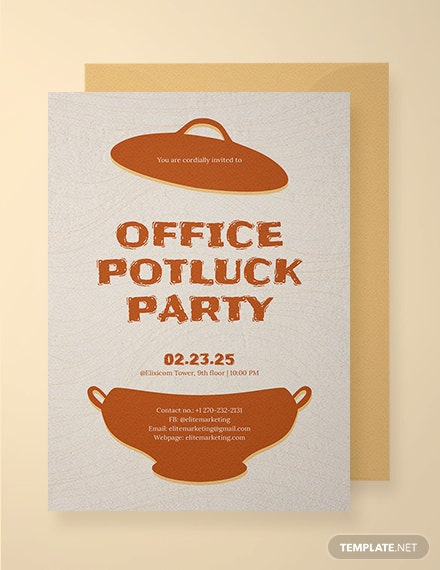 office potluck party invitation template download