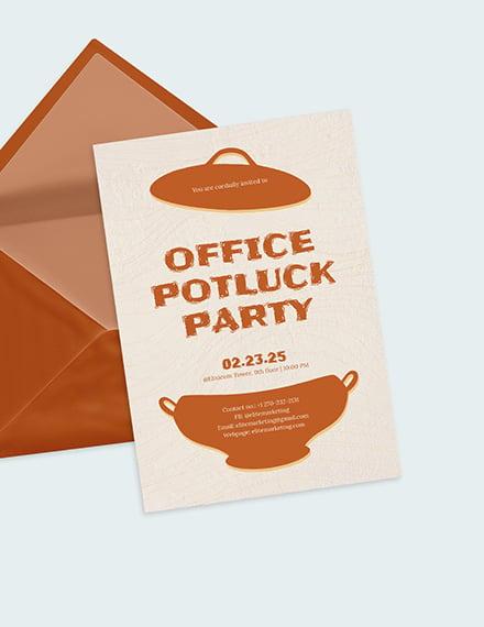 Sample Office Potluck Party Invitation