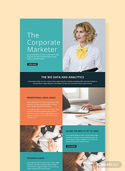 Free Marketing Email Newsletter Template
