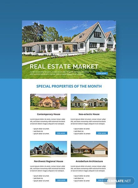 Free Monthly Real Estate Email Newsletter Template