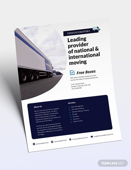 Moving Company Flyer Download