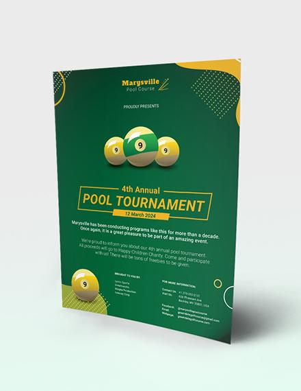 Pool Tournament Flyer Download