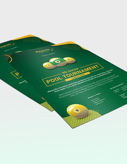 Sample Pool Tournament Flyer