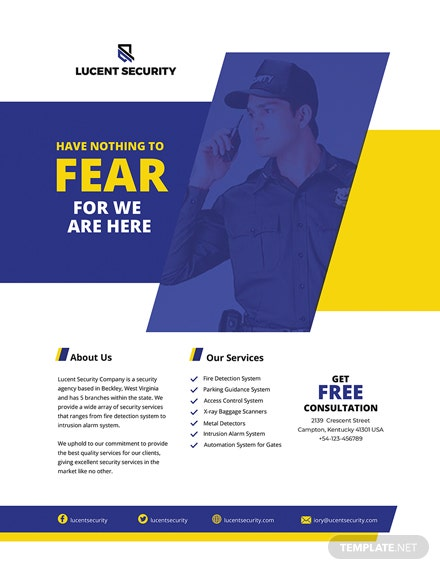 Security Company Flyer Template