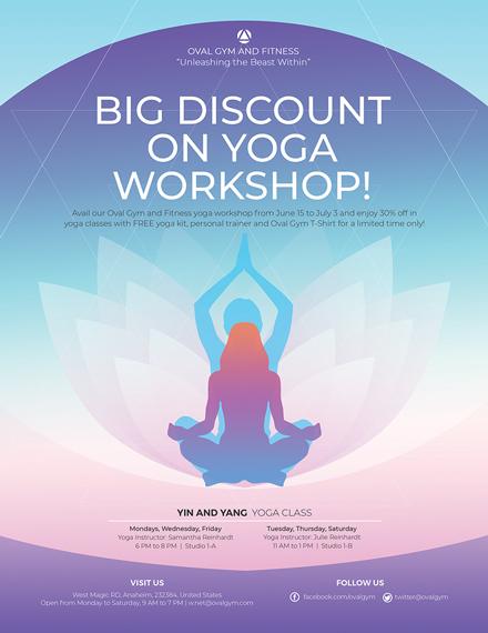 Yoga Workshop Flyer Template