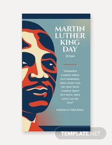 Free Martin Luther King Day Whatsapp Image Template