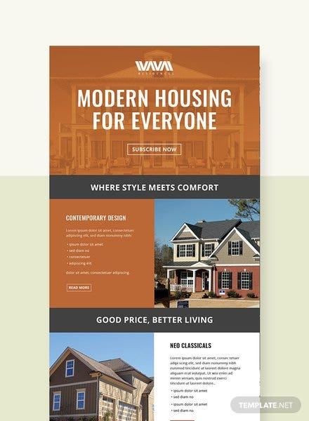 Free Real Estate Email Newsletter Template
