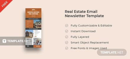 free real estate email newsletter template free templates. Black Bedroom Furniture Sets. Home Design Ideas