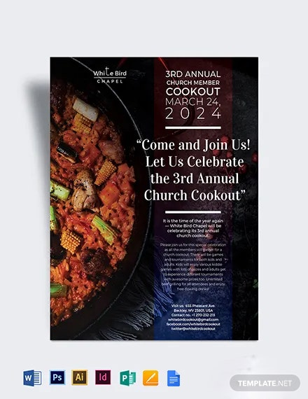 Church Cookout Flyer