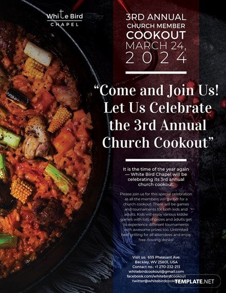 church cookout flyer template download