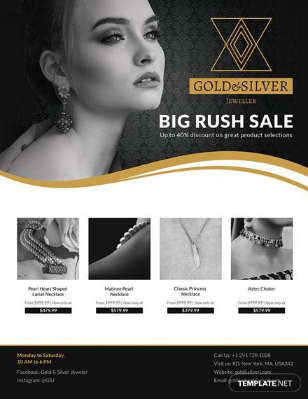 Jewellery Promotion Flyer Template