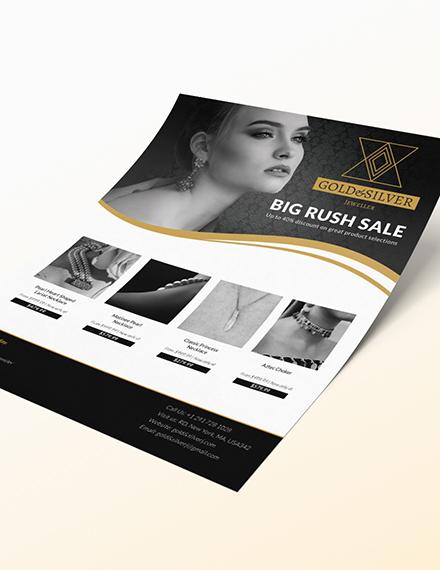 Sample Jewellery Promotion Flyer