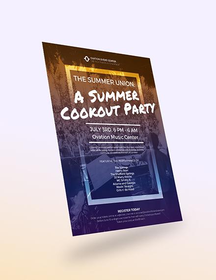 Sample Summer Cookout Flyer
