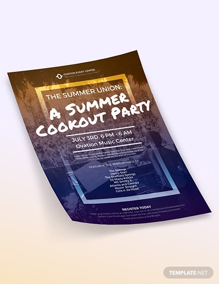 Summer Cookout Flyer Download