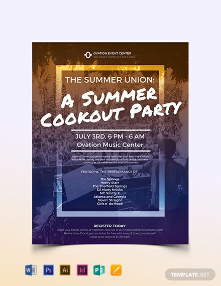Summer Cookout Flyer Template