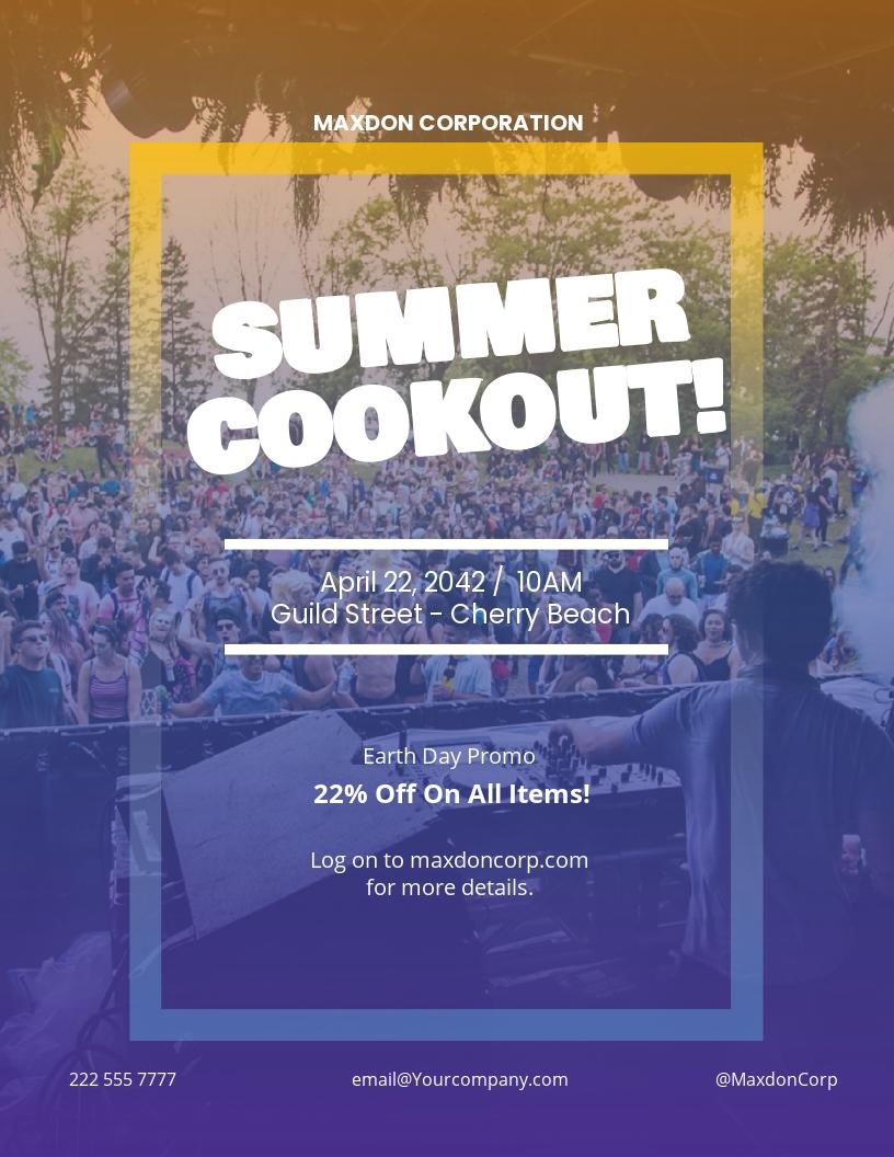 Summer Cookout Flyer Template